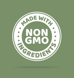 Green colored gmo free emblems vector