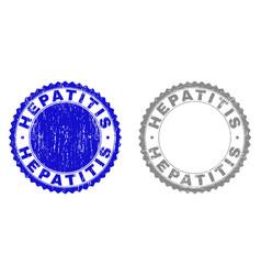 Grunge hepatitis scratched watermarks vector