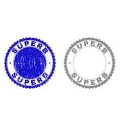 Grunge superb scratched stamp seals vector