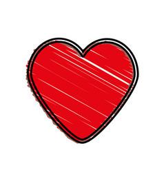 heart love romantic symbol vector image