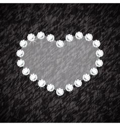 Heart symbol brilliant diamonds vector
