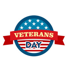 Heroes veterans day logo flat style vector