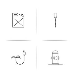 industry simple linear icon setsimple outline vector image