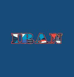 Iran concept word art vector