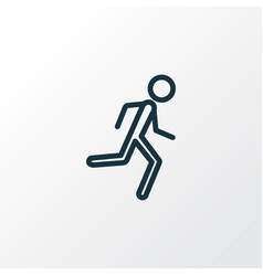 Jogging outline symbol premium quality isolated vector