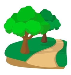 Jogging track in the park cartoon icon vector