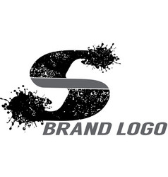 Letter s splattered logo vector