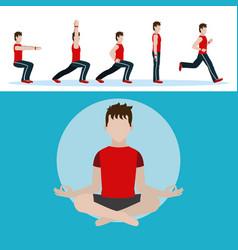 man and aerobics vector image