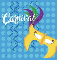 mask carnival concept vector image