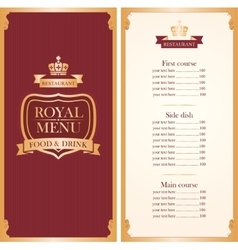 menu for a cafe or restaurant vector image