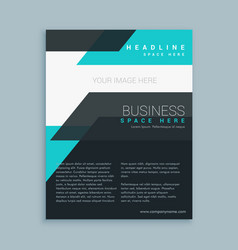minimal modern business flyer brochure design vector image