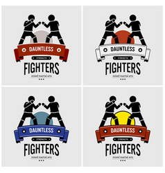 Mma mixed martial arts logo design artwork of vector