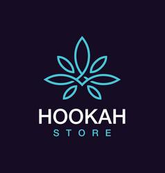 Modern professional logo hookah store in black vector
