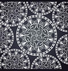Monochrome and circular mandalas pattern vector