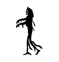 Mummy halloween silhouette scary monster fantasy vector