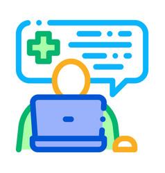 Online diagnosis icon outline vector