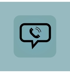 Pale blue calling message icon vector image