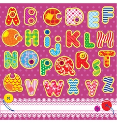 Patchwork ABC alphabet vector image