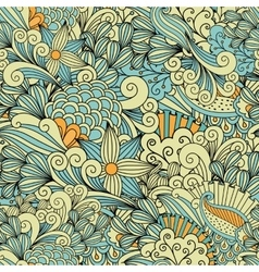 Pretty yellow and blue background made patterns vector