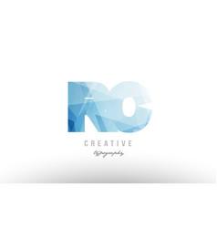 Rc r c blue polygonal alphabet letter logo icon vector