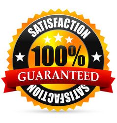 Satisfaction guarantee seal stamp or badge with vector