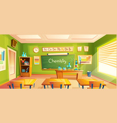 School laboratory classroom interior vector