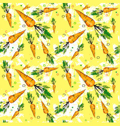 seamless pattern carrot vegetables ornament vector image