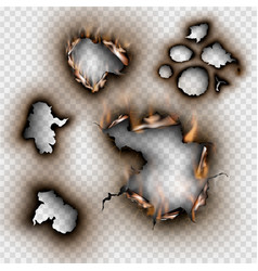 set design elements torn paper with place vector image