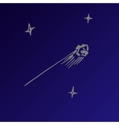 sketch of a meteorite vector image