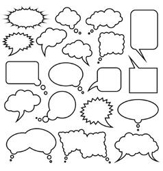 Speech bubble collection vector
