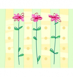 styled flowers background vector image