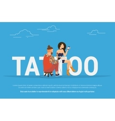 Tattoo addiction concept design vector