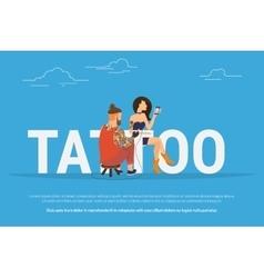 tattoo addiction concept design vector image