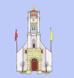 traditional greek church vector image
