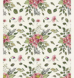 trendy floral pattern in the many kind of flowers vector image