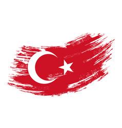 Turkish flag grunge brush background vector