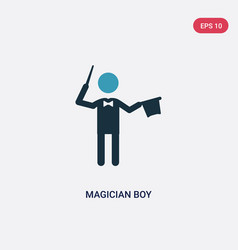 Two color magician boy icon from people concept vector