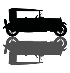 Vintage black cabriolet vector