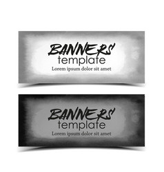 watercolor template banners vector image