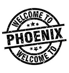 Welcome to phoenix black stamp vector