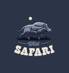 Wild boar with tusks vector