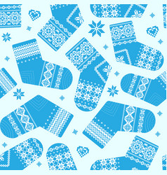 winter socks pattern vector image
