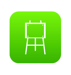 Wooden easel icon digital green vector