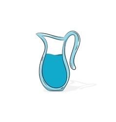 Jug of water vector image