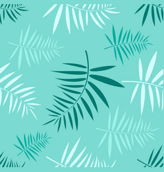 seamless pattern with the green tropical leaves vector image vector image