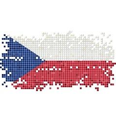Czech grunge tile flag vector image vector image