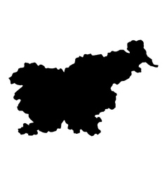 map of slovenia vector image