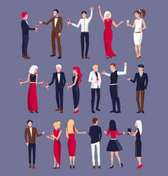 people dressed formally on vector image vector image