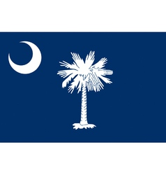 South Carolinian state flag vector image vector image