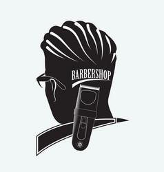 stylish barber shop vector image vector image